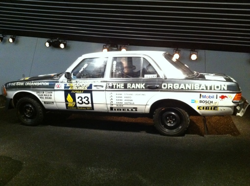 MB 280E, winner of the London - Sydney Rally 1977