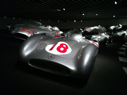 Fangio's MB W196 Streamliner, used at the high speed tracks such as Reims and Monza.