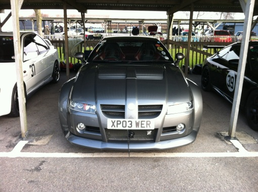In the pits at Goodwood
