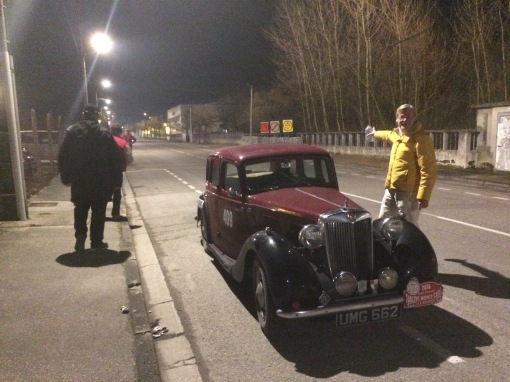 UMG Monte 16 26 Early morning check point Bourgoin - Jallieu